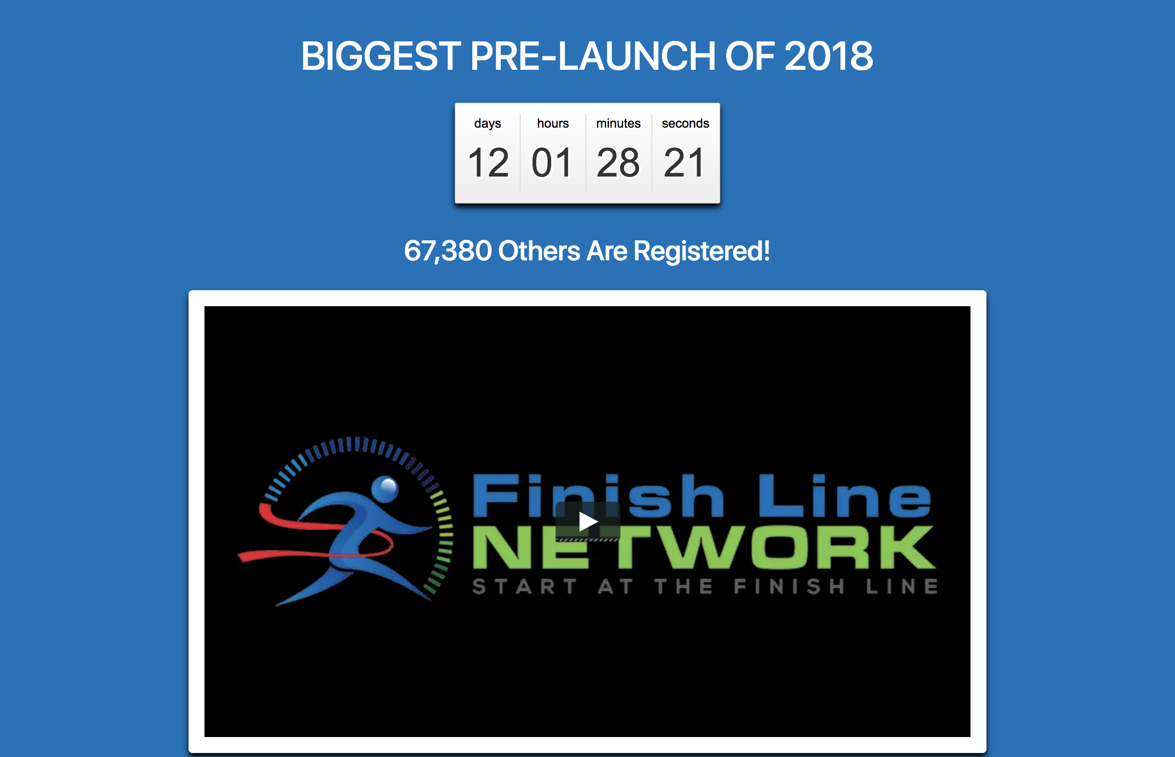 Finish Line Network Launch